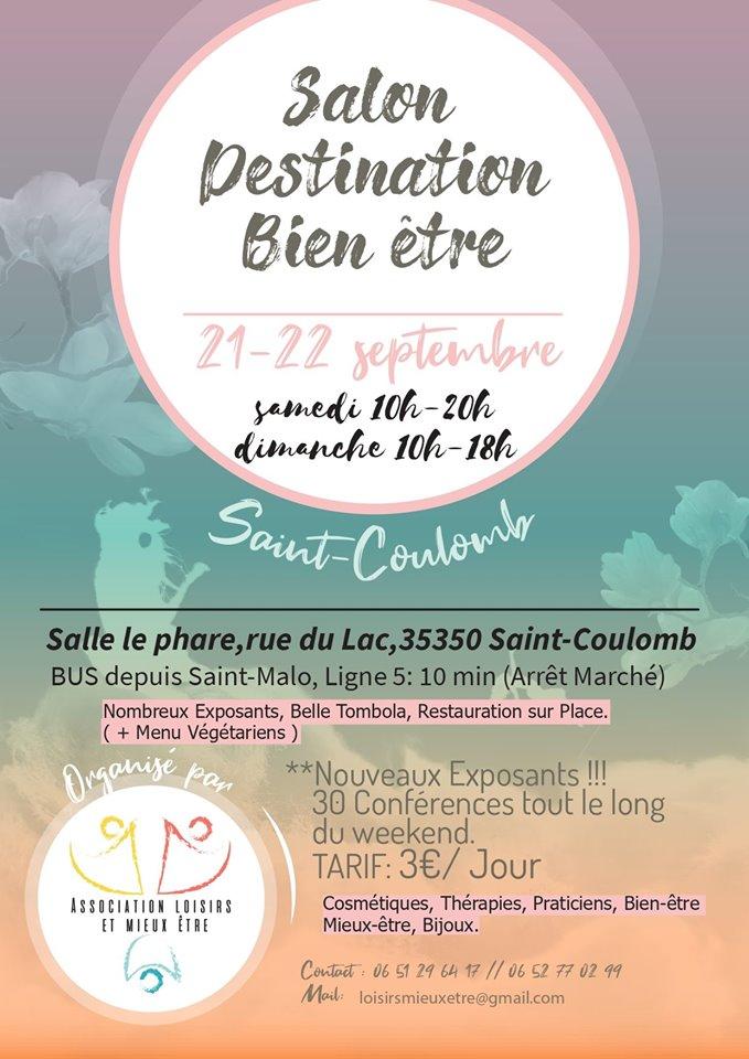 21 et 22 Septembre 2019 - Salon Destination Bien-Être St Coulomb (35) - à côté de St Malo